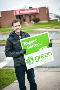 Anthony at a Green Wave